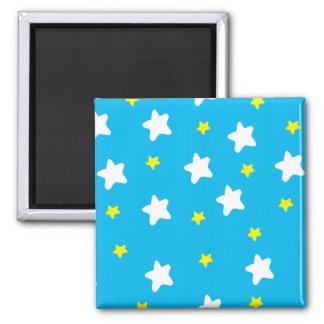 Azul de cielo feliz de las estrellas imanes para frigoríficos