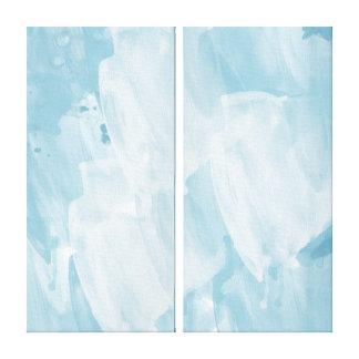 Azul de cielo impresión en lona estirada