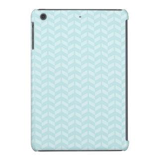 Azul de cielo ligero Chevron retro Fundas De iPad Mini
