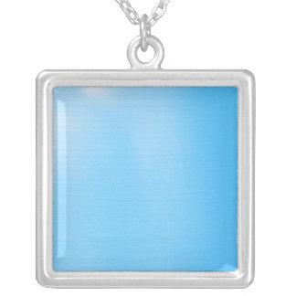 Azul de cielo metálico colgante cuadrado