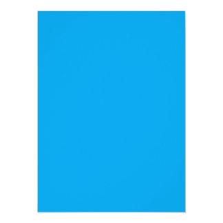 Azul de cielo nada pero del color solamente invitación 13,9 x 19,0 cm