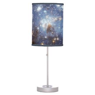 Azul de cielo nocturno del espacio del universo de lámpara de escritorio