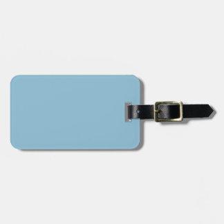 Azul de cielo oscuro etiquetas bolsa