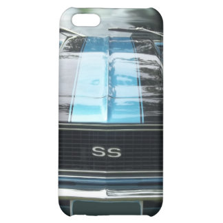 Azul de cielo SS Camaro con las rayas negras