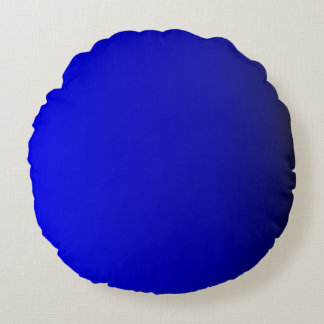 Azul de cobalto brillante sólido cojín redondo