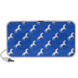 Azul de cobalto caballo blanco Equestrian Chevr