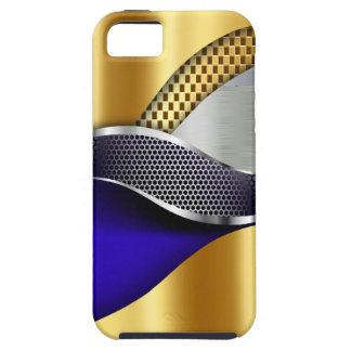 Azul de cobalto de la malla de la plata del oro funda para iPhone SE/5/5s
