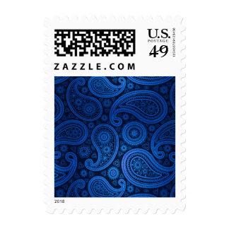 Azul de cobalto de lujo de Paisley el | Sello
