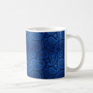Azul de cobalto de lujo de Paisley el | Taza