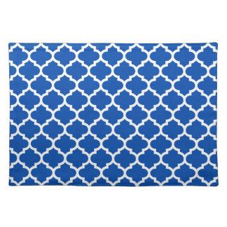 Azul de cobalto de Quatrefoil Manteles