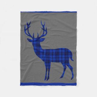 Azul de cobalto del carbón de leña de la silueta manta de forro polar