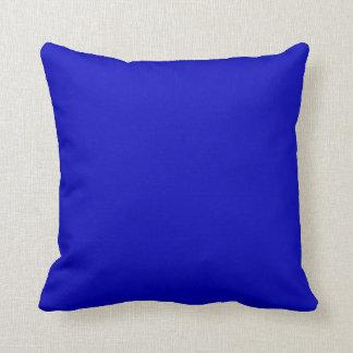 Azul de cobalto del color sólido cojines