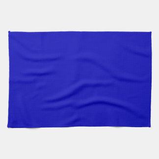 Azul de cobalto del color sólido toallas de mano