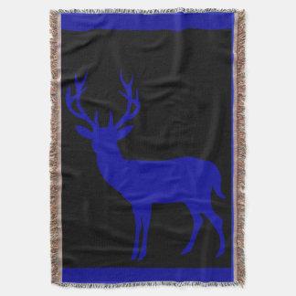 Azul de cobalto negro de la silueta el   del macho manta