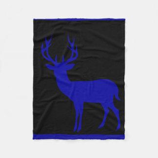 Azul de cobalto negro de la silueta el   del macho manta de forro polar