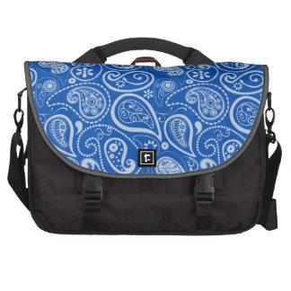 Azul de cobalto Paisley; Floral Bolsas De Ordenador