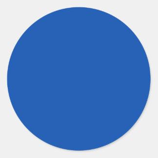 Azul de cobalto pegatina redonda