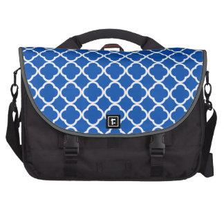 Azul de cobalto Quatrefoil Bolsas Para Portatil