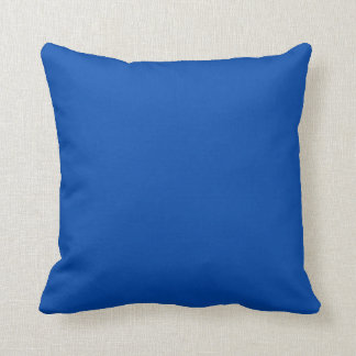 Azul de cobalto sólido cojines