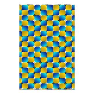 Azul de combeo/amarillo de la ilusión óptica del  papeleria de diseño