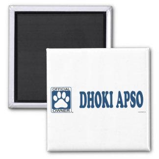 Azul de Dhoki Apso Imán Cuadrado