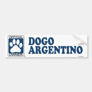 Azul de Dogo Argentino Etiqueta De Parachoque