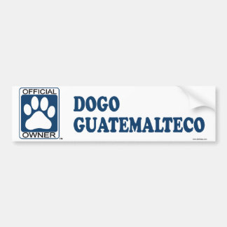 Azul de Dogo Guatemalteco Pegatina Para Auto