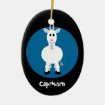 Azul de encargo de la cabra del Capricornio de la  Ornamentos Para Reyes Magos