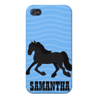 Azul de encargo del caso de Iphone 4 frisios del c iPhone 4 Carcasas