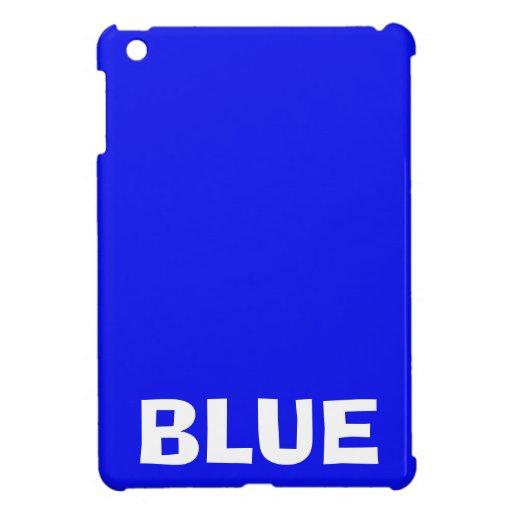 Azul de encargo retro del color sólido iPad mini fundas