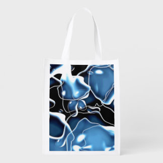 Azul de forma irregular múltiple, y burbujas del bolsas para la compra