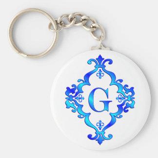 Azul de G de la letra Llavero Personalizado