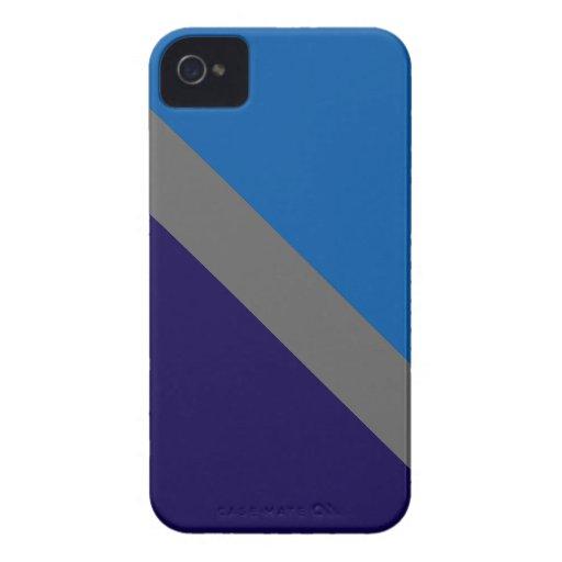 Azul de GEOSTRIPS iPhone 4 Case-Mate Coberturas