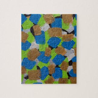 Azul de Green& de la cal del arte contemporáneo de Rompecabeza