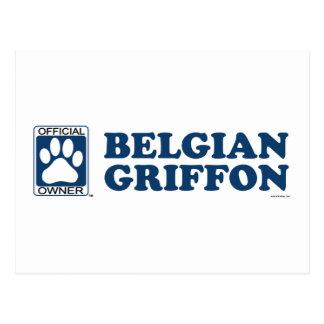 Azul de Griffon del belga Tarjetas Postales