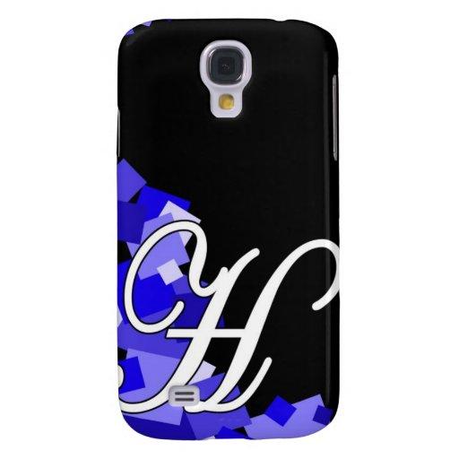 Azul de H en negro Funda Para Galaxy S4