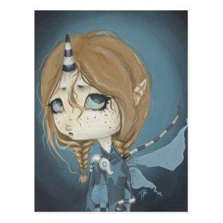 Azul de hadas de la postal del dragón