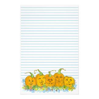 Azul de Halloween de la Jack-O-Linterna alineado Papeleria De Diseño