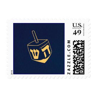 Azul de Jánuca Dreidel y sello del oro