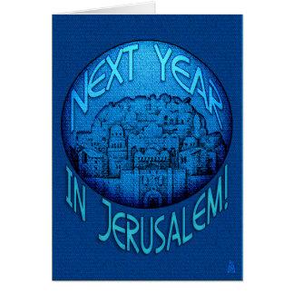 Azul de Jerusalén del Passover Tarjeta De Felicitación