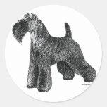 Azul de Kerry Terrier Pegatina Redonda