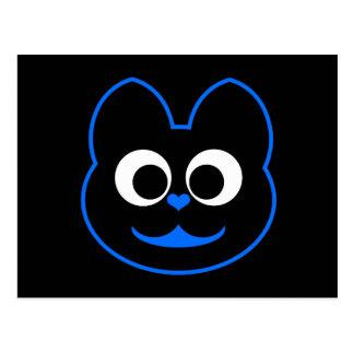 Azul de KiKi Kat Tarjetas Postales