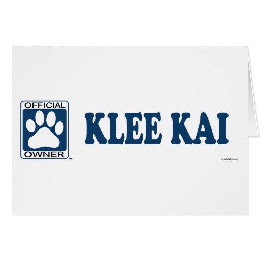 Azul de Klee Kai Tarjetón