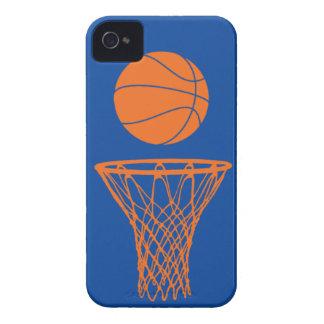 azul de Knicks de la silueta del baloncesto del iP Case-Mate iPhone 4 Cárcasa