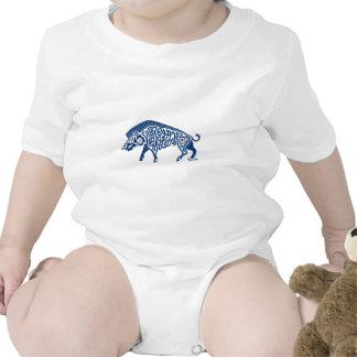 Azul de Knotwork del verraco Traje De Bebé