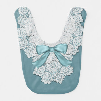 Azul de la aguamarina y babero elegantes del bebé