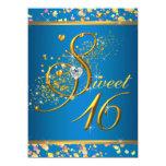 Azul de la aguamarina y fiesta del dulce dieciséis comunicados personales