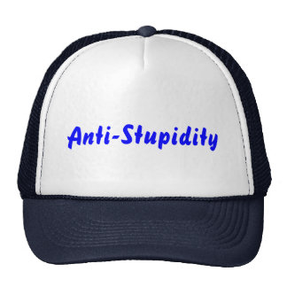 Azul de la Anti-Estupidez Gorro