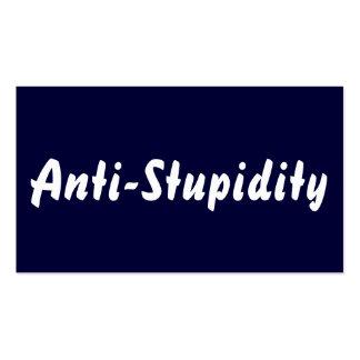 Azul de la Anti-Estupidez Tarjeta Personal