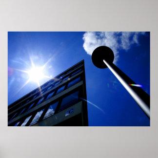 Azul de la arquitectura del cielo del verano
